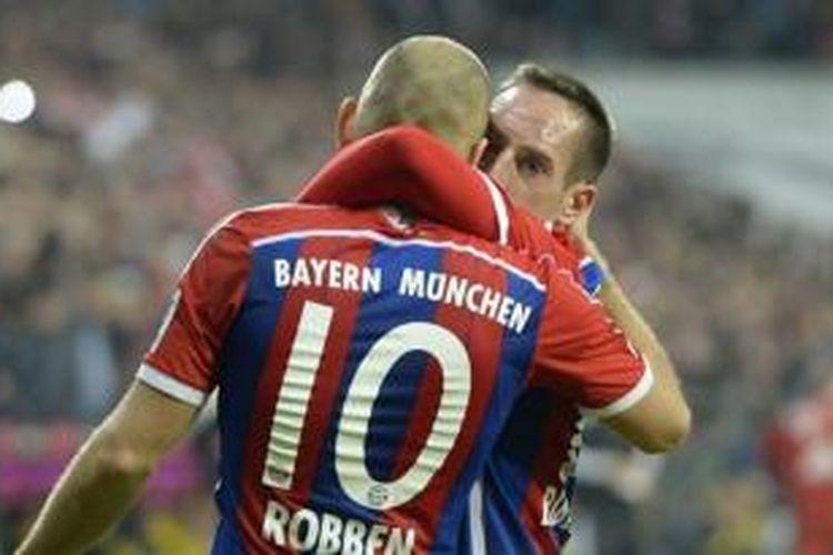 Winger Bayern Muenchen, Arjen Robben dan Franck Ribery.