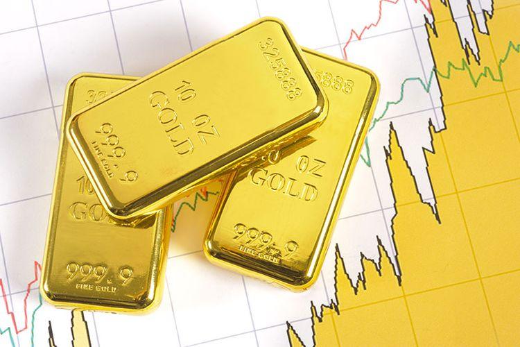 Ilustrasi investasi emas digital.