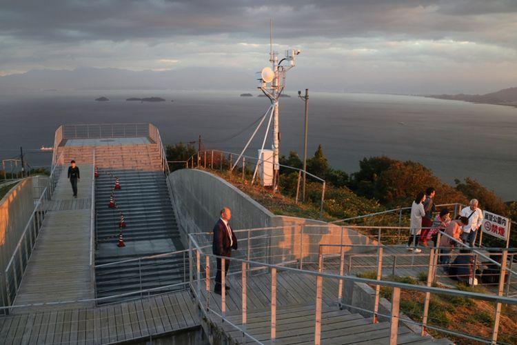 Observatorium Kirosan di Kota Imabari di Prefektur Ehime, Jepang.
