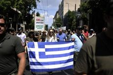 30.000 Pekerja Yunani Gelar Unjuk Rasa di Athena