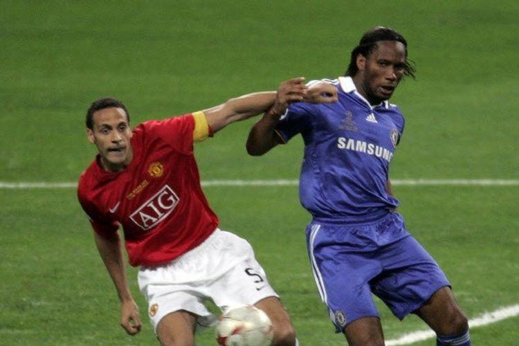 Laga Manchester United vs Chelsea pada final Liga Champions musim 2007-2008, 21 Mei 2008.