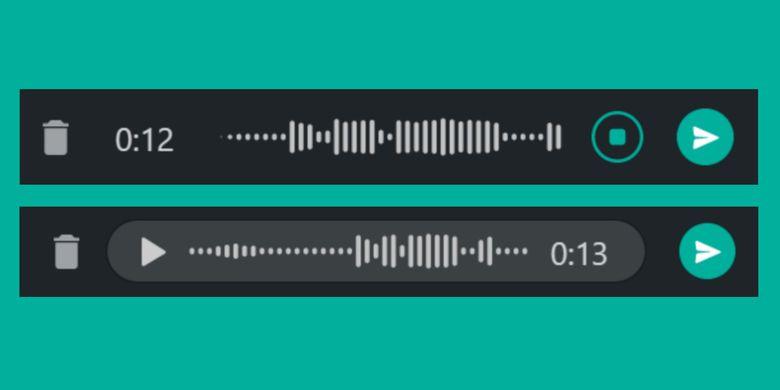 Fitur baru voice note yang bisa dijajal pengguna WhatsApp beta versi 2.2133.1.