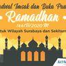 INFOGRAFIK: Jadwal Imsakiyah dan Buka Puasa di Surabaya Selama Ramadhan 2020