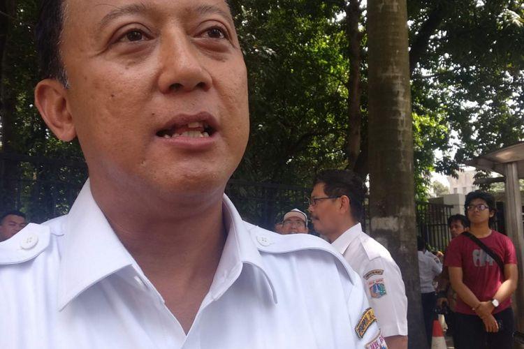 Kepala Dinas Bina Marga DKI Jakarta Hari Nugroho di Senayan, Jakarta Pusat, Kamis (28/2/2019).
