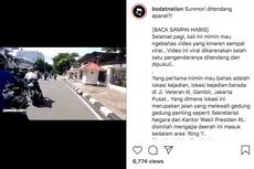 Viral, Video Sunmori di Sekitar Istana Diberhentikan Petugas