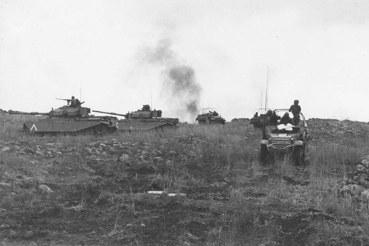 Soldados israelíes en la batalla de Yom Kipur de 1973.