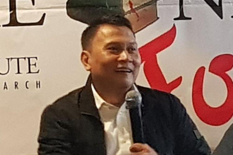 Ketua DPP PKS Mardani Ali Sera saat berbicara dalam diskusi The Indonesian Institute di kawasan Menteng, Jakarta Pusat, Selasa (29/10/2019).