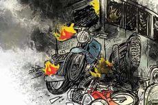 Kronologi Kecelakaan Motor dan Truk yang Tewaskan Ibu dan 2 Balita di Pondok Cabe
