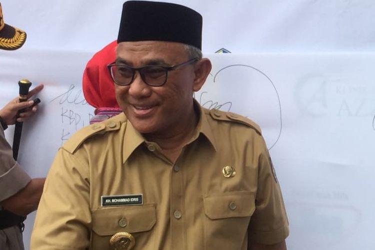 Wali Kota Depok, Mohammad Idris, di BalaiKota Depok, Jalan Margonda, Depok, Selasa (7/8/2018).