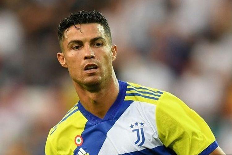 Cristiano Ronaldo pada laga pekan pertama kasta teratas Liga Italia, Serie A, yang mempertemukan Udinese vs Juventus di Stadon Friuli, Minggu (22/8/2021).