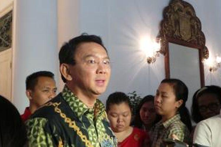 Gubernur DKI Jakarta Basuki Tjahaja Purnama, di Balai Kota, Rabu (27/5/2015).