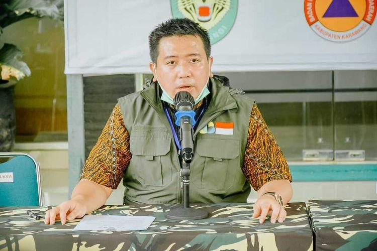 Juru Bicara Gugus Tugas Percepatan Penanganan Covid-19 Kabupaten Karawang dr. Fitra Hergyana