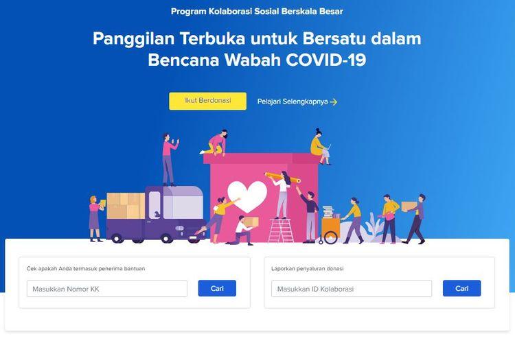 Warga bisa mengecek apakah dirinya tercatat sebagai penerima bansos lewat situs corona.jakarta.go.id/id/ksbb yang dimiliki Pemprov DKI Jakarta.