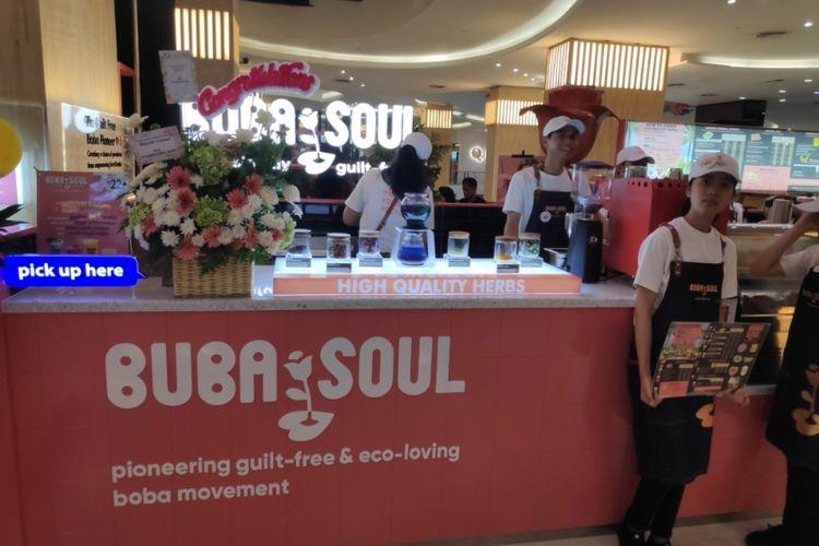 Minuman boba dengan rempah khas Indonesia di Buba Soul.