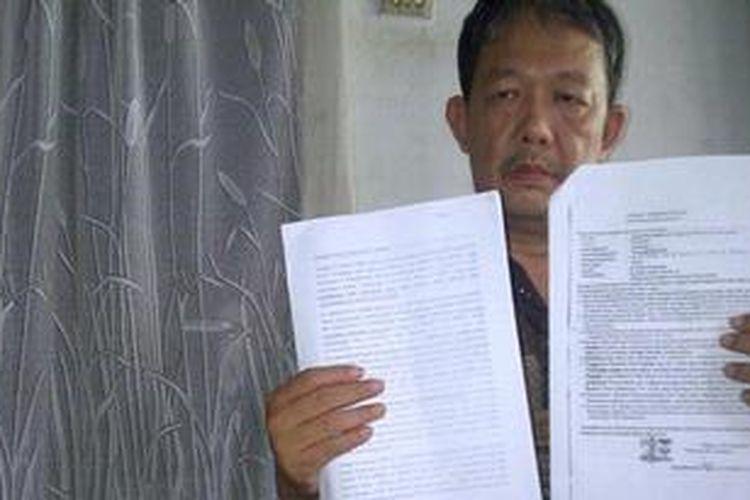 Andreas Nurmandala Sutiono, seorang Pembina Rohani Gereja di LP Lowokwaru Malang, Jawa Timur, yang dipercaya Ruben untuk menyampaikan kasus yang menimpanya ke media. Selasa (11/6/2013).