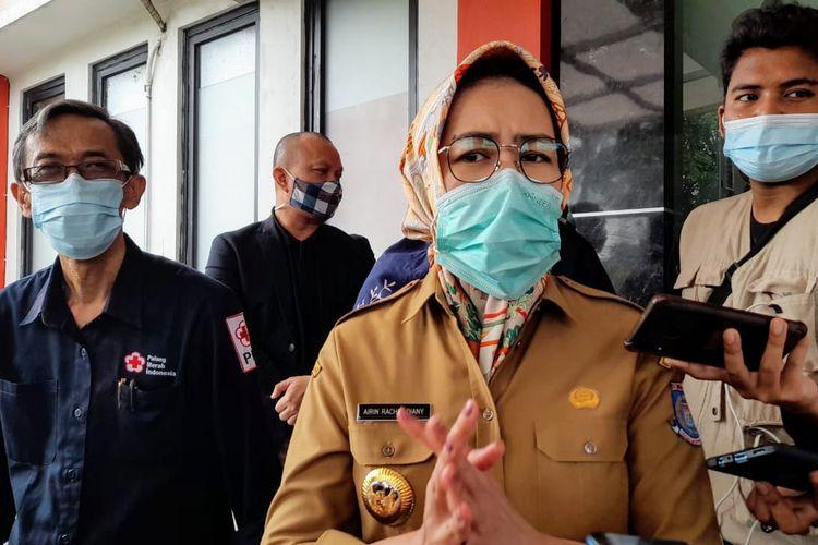 Wali Kota Tangerang Selatan Airin Rachmi Diany saat ditemui di Gedung PMI Tangerang Selatan, Senin (7/12/2020)