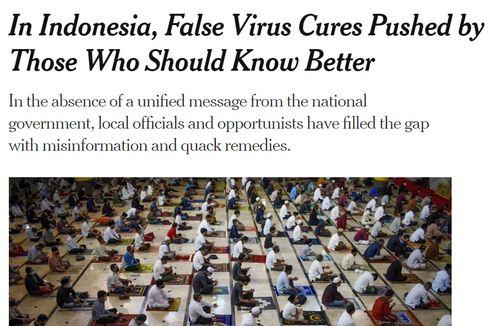 Media Asing Sorot Buruknya Penanganan Covid-19 di Indonesia: Dari Kalung Anti Corona sampai Ucapan Influencer