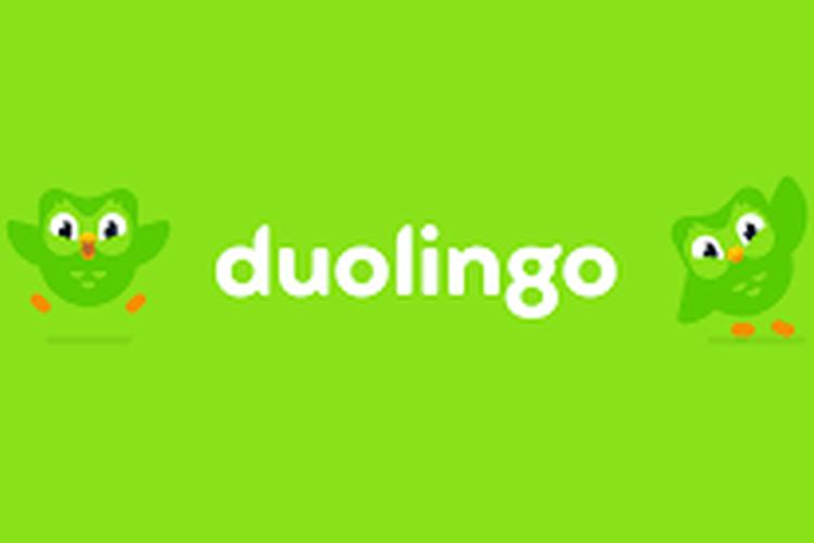 Ilustrasi logo Duolingo
