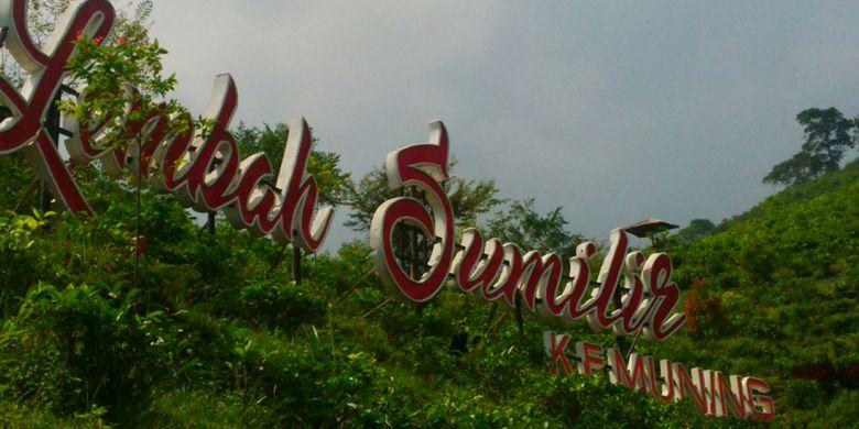 Obyek wisata alam Lembah Sumilir di Dusun Milir RT 001/RW 014, Desa Kemuning, Kecamatan Ngargoyoso, Karanganyar, Jawa Tengah, Minggu (22/7/2018).