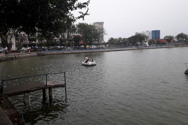 Suasana Danau Sunter, Jakarta Utara, Selasa (7/8/2018).