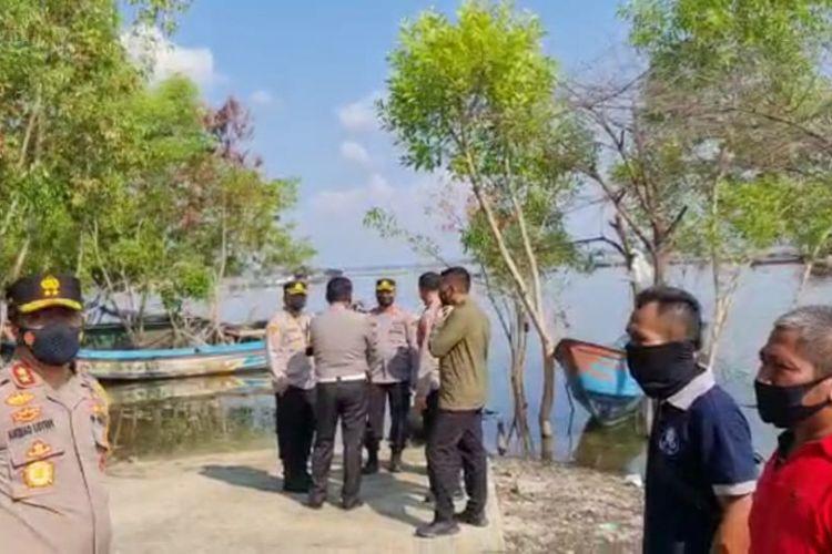 Rombongan Kapolda Jateng Irjen Pol Ahmad Luthfi meninjau lokasi musibah di Waduk Kedung Ombo.