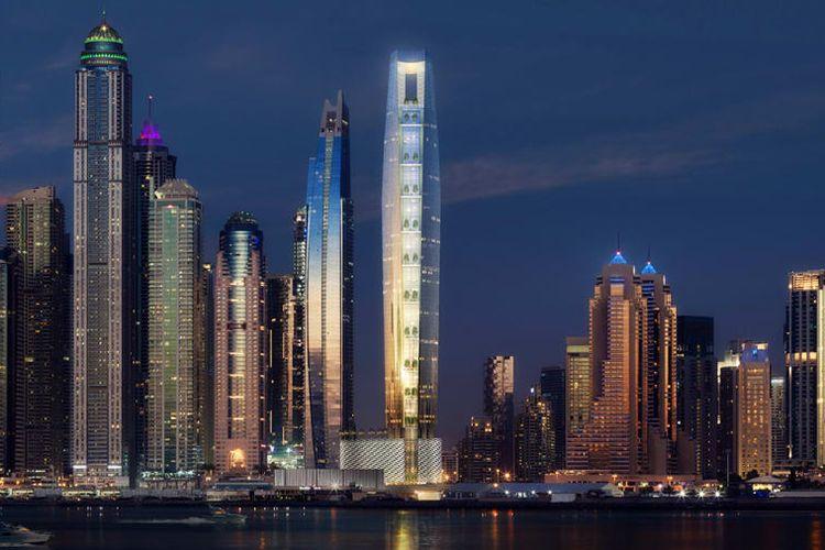 Ciel Tower di Dubia akan menyabet rekor hotel tertinggi di dunia untuk 2022.