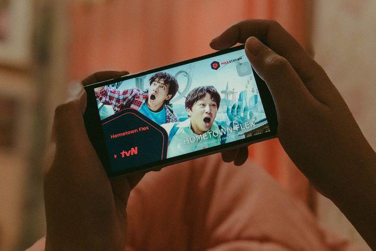 Layanan tvN di platform streaming MAXstream.