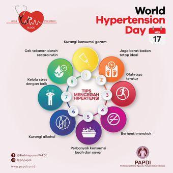 Kiat mencegah hipertensi dari PAPDI (Perhimpunan Dokter Spesialis Penyakit Dalam Indonesia).