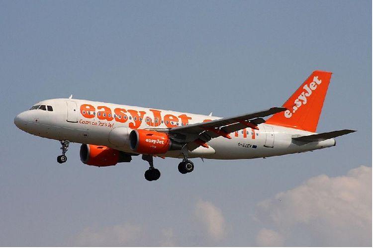 Salah satu pesawat milik maskapai penerbangan EasyJet.