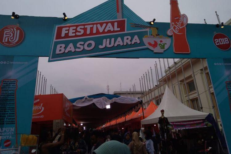 Festival Baso Juara 2018 digelar di Jalan Soekarno, Kota Bandung, Jumat-Minggu (7-9 Desember 2018). Acara ini menghadirkan 40 tenant dari sejumlah daerah di Bandung, Garut, dan Tasik.