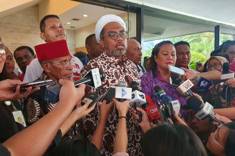 Kantor Staf Presiden (KSP) menerima sejumlah tokoh adat, tokoh agama dan tokoh masyarakat Papua di Istana Kepresidenan, Jakarta, Jumat (30/8/2019).