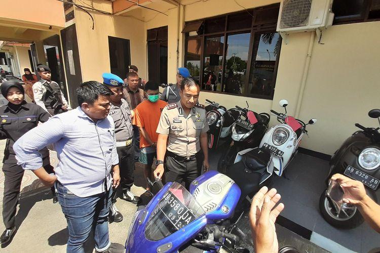 Kapolres Bantul AKBP Wachyu Tri Budi Sulistyono Saat Jumpa Pers di Mapolres Bantul Selasa (14/1/2020)