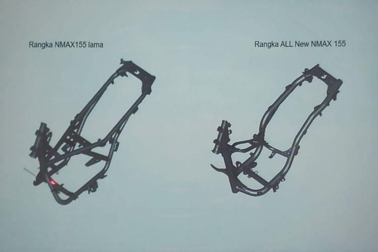 Perbandingan rangka Yamaha NMAX lawas dan New NMAX