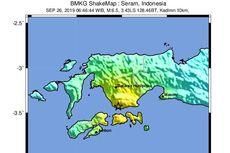 Gempa M 6,8 Guncang Ambon, Kairatu dan Haruku, Dipicu Sesar Aktif