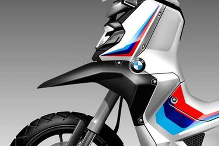 Desain konsep skutik petualang BMW C 400 GS