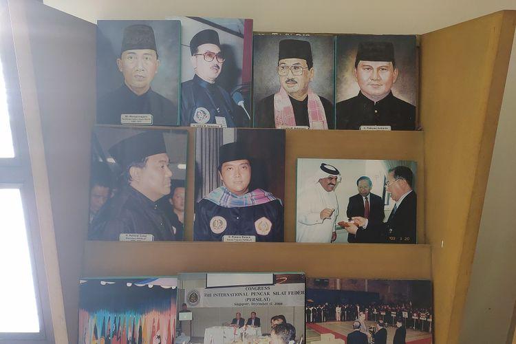 Foto-foto para Ketua Ikatan Pencak Silat Seluruh Indonesia (IPSI) dari masa ke masa di Museum Padepokan Pencak Silat Indonesia, Jakarta Timur, Jumat (13/12/2019).