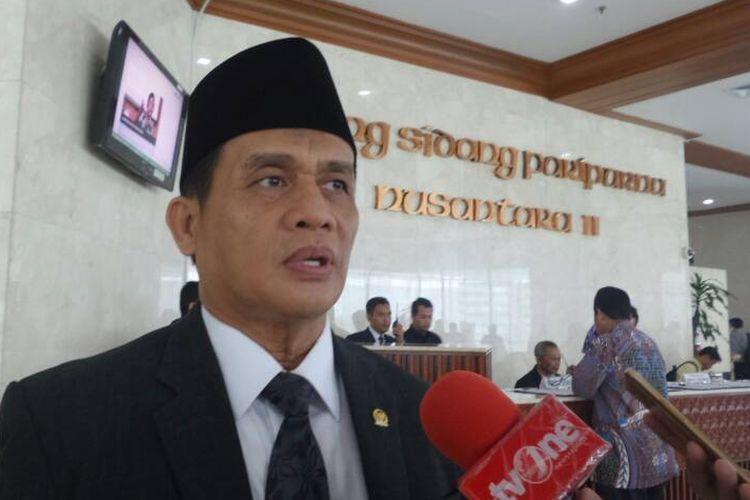 Anggota Komisi III DPR RI dari Fraksi Partai Gerindra, Muhammad Syafii di Kompleks Parlemen, Senayan, Jakarta, Selasa (30/5/2017).