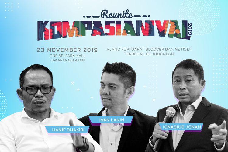 Kompasianival 2019 mengusung tema Reunite yang akan diselenggarakan di OneBell Park Mall, Jakarta, Sabtu (23/11/2019)