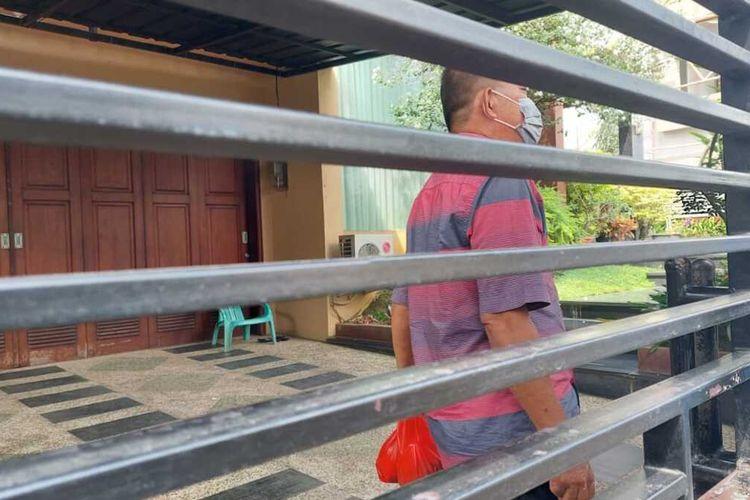 Rudi Sutadi menantu Akidi Tio yang tinggal di Kecamatan Ilir Timur, Palembang, Sumatera Selatan, Rabu (28/7/2021).