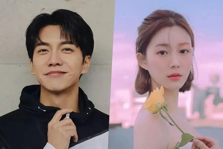 Pasangan artis peran Korea Selatan Lee Seung Gi dan Lee Da In