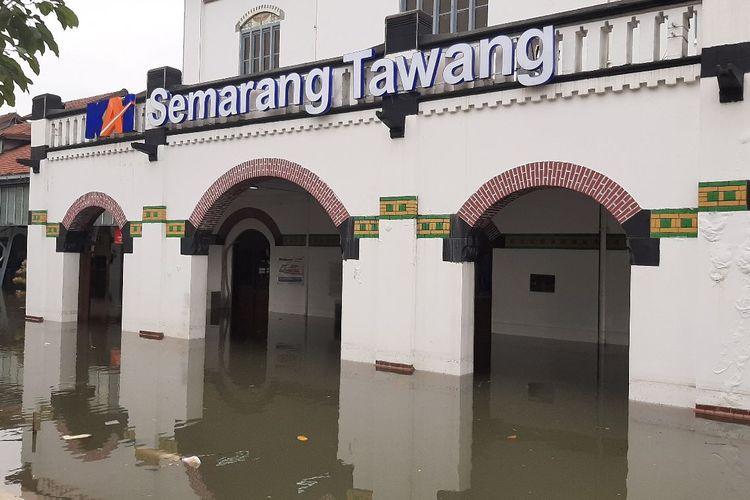 Kondisi stasiun kereta api Tawang Semarang, Rabu (23/2/2021).