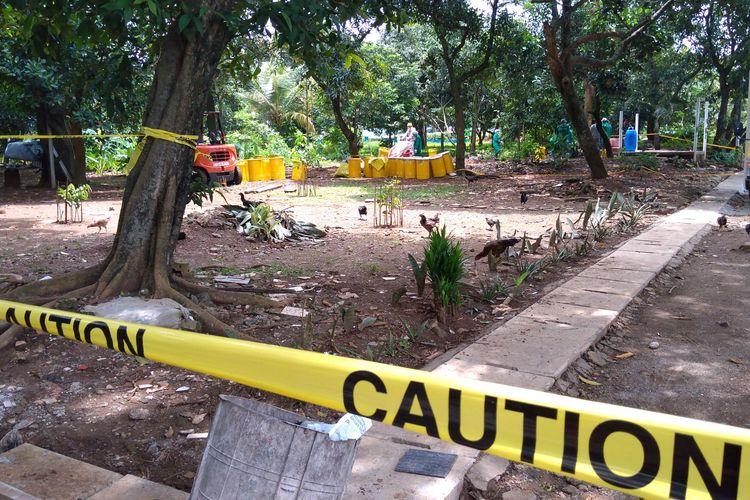 Lokasi zat radioaktif Cs 137 di perumahan Batan Indah Tangerang Selatan, Minggu (16/2/2020)