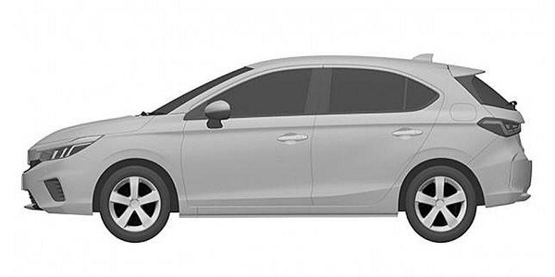 Gambar paten Honda City Hatchback