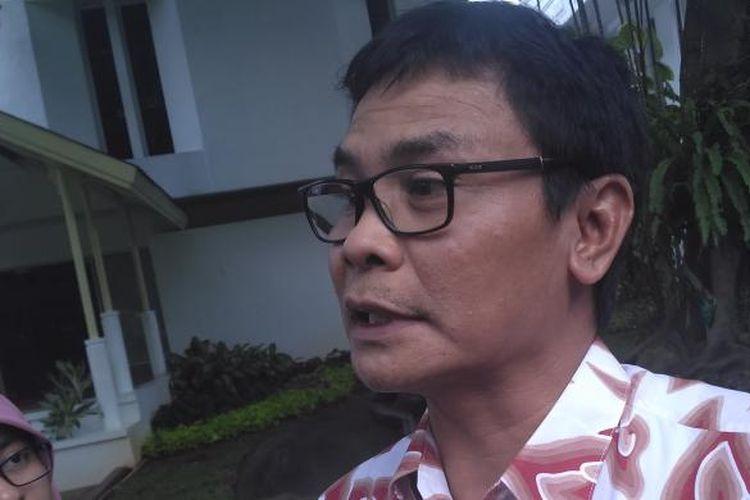 Staf Khusus Presiden bidang Komunikasi Johan Budi di Istana, Kamis (12/1)