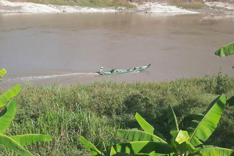 Lokasi aliran Bengawan Solo yang terkena dampak pembangunan Bendung Gerak Karangnongko, di Kecamatan Kradenan, Kabupaten Blora