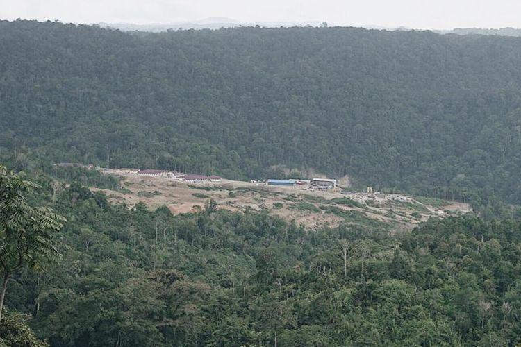 Lokasi bendungan PLTA Batang Toru di Kecamatan Sipirok, Tapanuli Selatan.