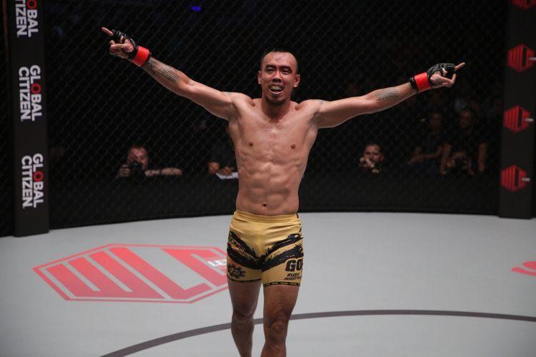 Petarung seni bela diri campuran atau mixed martial arts (MMA) asal Indonesia, Rudy Agustian.