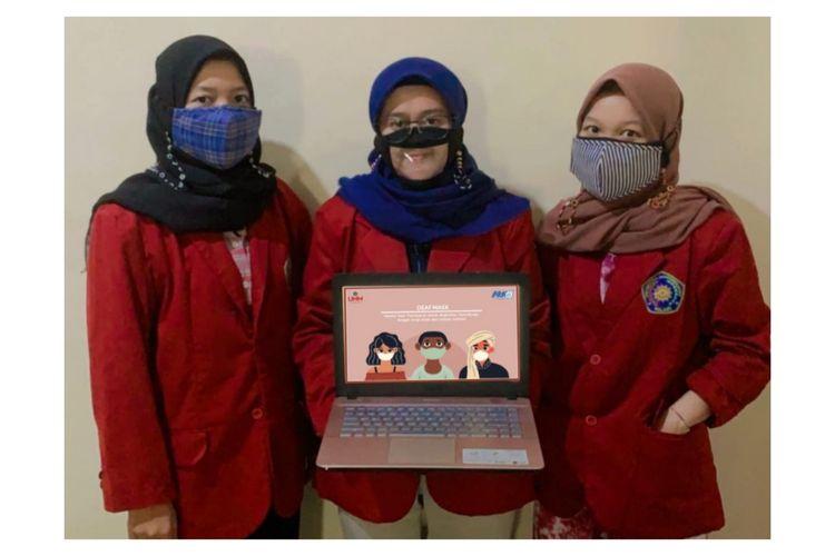 Masker tunarungu ramah lingkungan buatan tim mahasiswa UMM