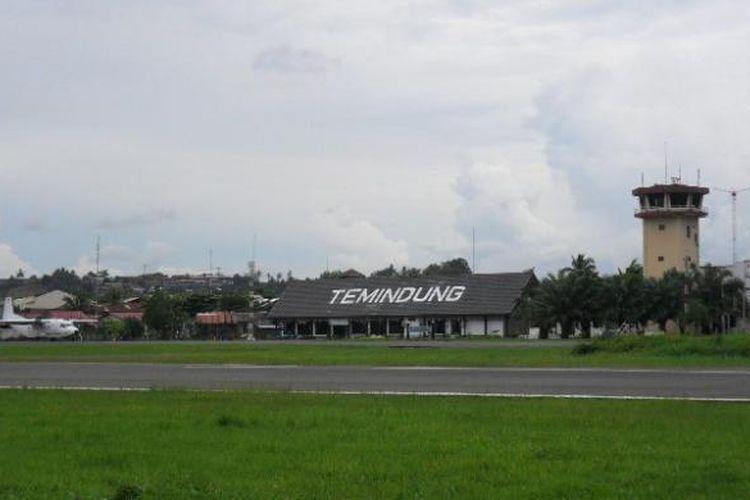 Bandara Temindung, Samarinda, Kalimantan Timur.