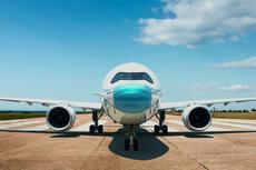 Unik, Pesawat Garuda Indonesia Pakai Masker, Ada Motif Barong